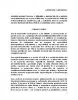 Acuerdo de ampliación de suspensión de plazos al 30 de abril