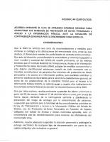 Acuerdo de suspensión de plazos al 17 de abril