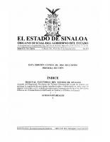 Acuerdo del Magistrado Presidente del Tribunal Electoral del Estado de Sinaloa que prorroga la suspensión de actividades Jurisdiccionales y Administrativas