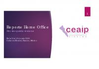 Reporte Home Office del 6 al 10 de julio